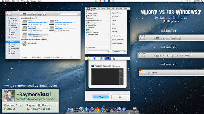 win7仿mac主题 mLion7 for win7