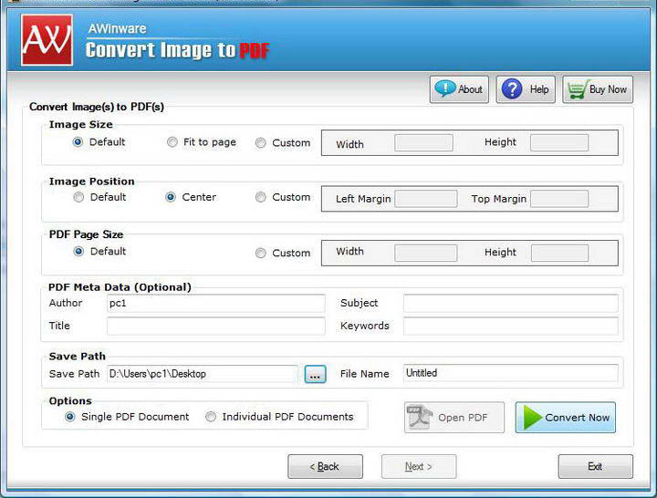 how to convert image to pdf in pc