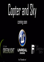 Copter and Sky直升机和天空