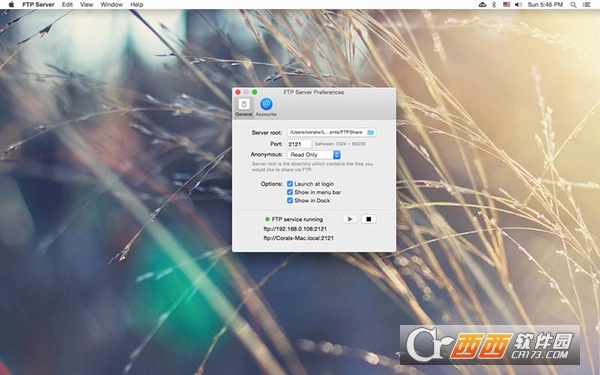 FTP server for mac V1.2.1