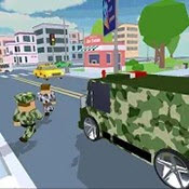 像素军队Blocky Army City Rush Racer