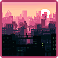 Pixel Art City Wallpaper