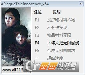 瘟疫传说无罪A Plague Tale: Innocence修改器+7